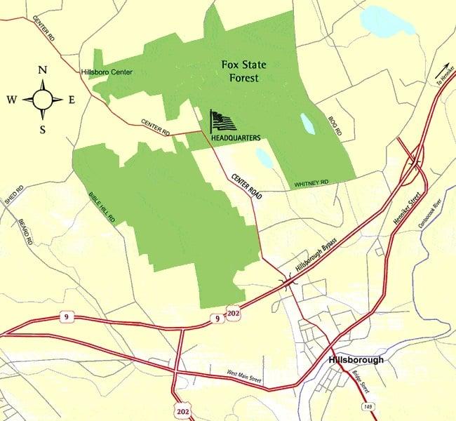 Fox State Forest: 309 Center Rd, Hillsboro, NH