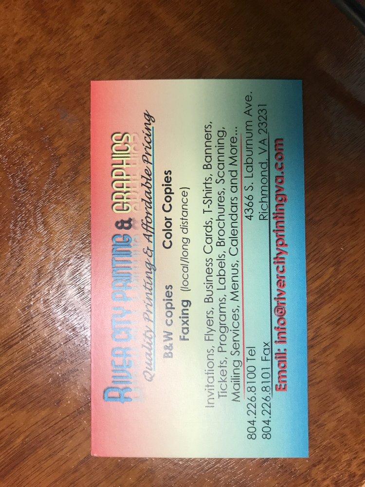 River City Printing - Printing Services - 4366 S Laburnum Ave ...