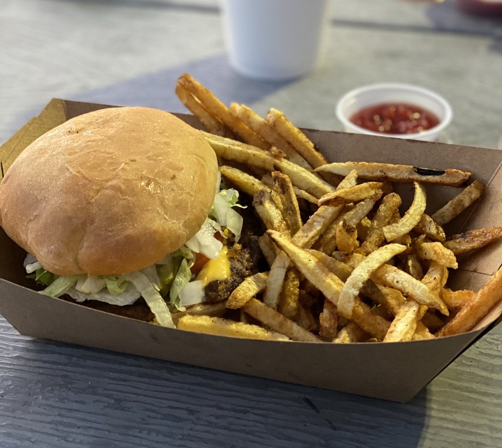 Food from Tay's Burger Shack