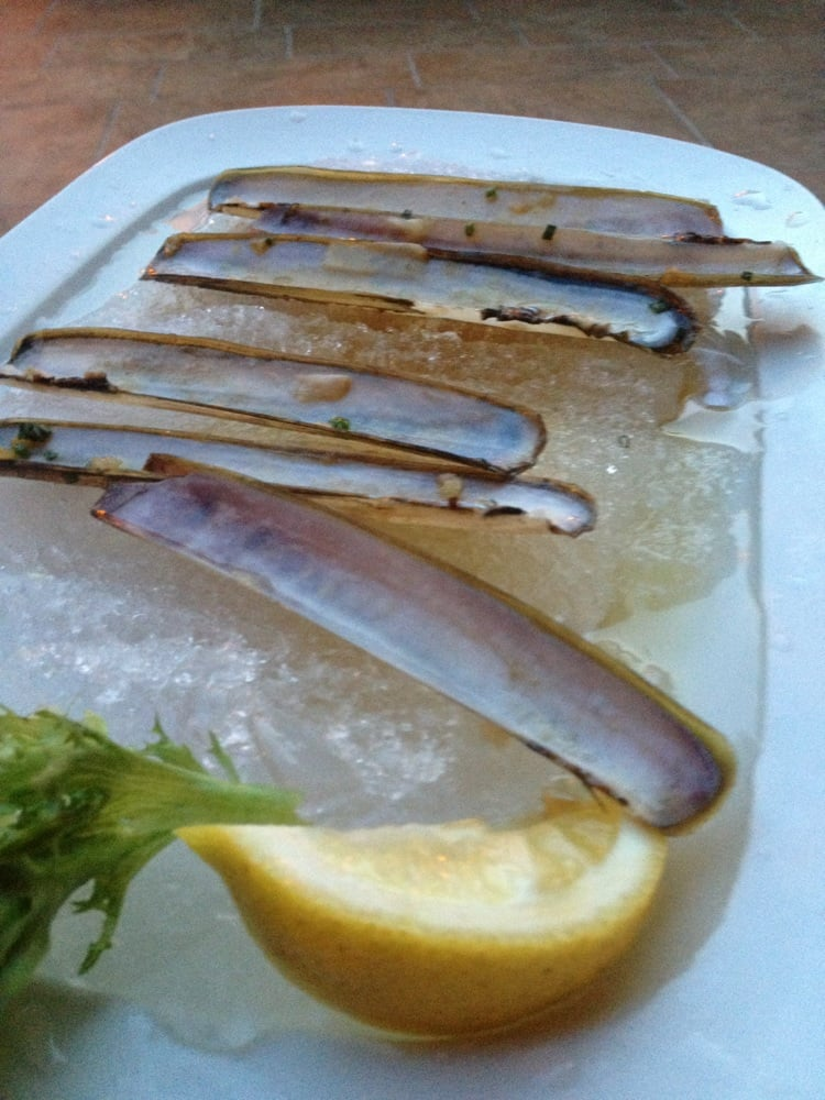 Razor clams yelp for Pm fish steak house