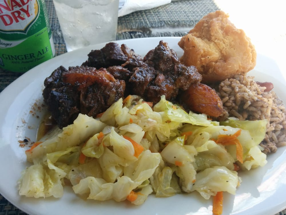 Oxtail rice peas goodness maaahhhn yelp for Ackee bamboo jamaican cuisine