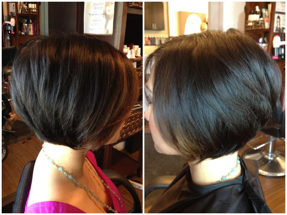 ... Salon - Campbell, CA, United States. Soft graduated bob by Danielle E