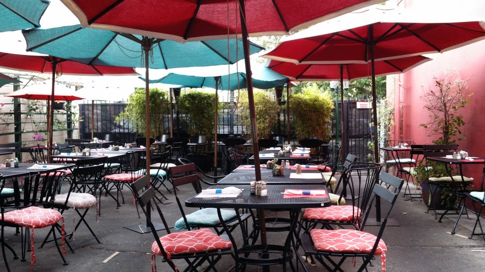 Photo Of Cafe Laurent   Culver City, CA, United States. Empty Patio On