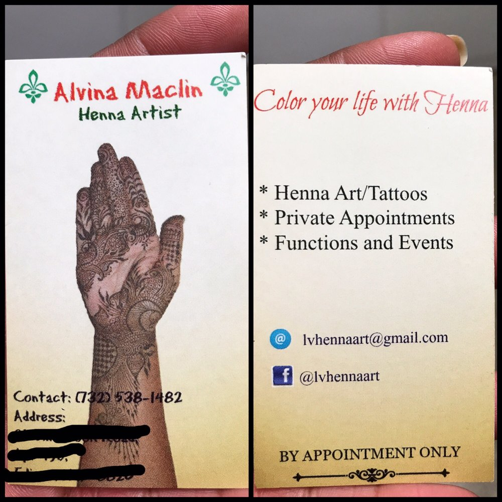 A Pic Of Alvina S Business Card Her Address Has Changed So I