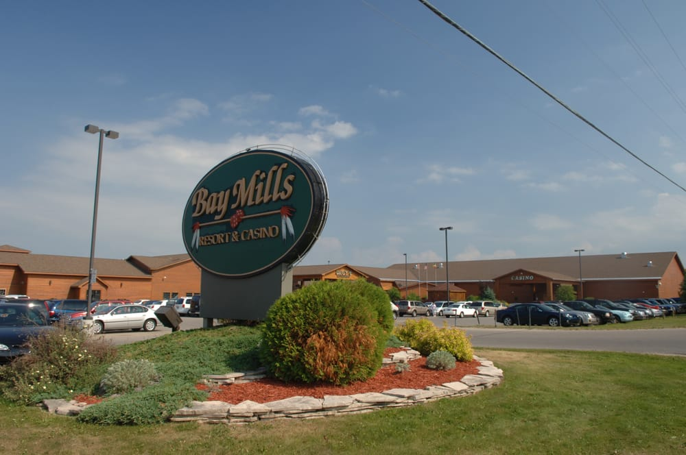 Photo of Bay Mills Resort & Casinos - Brimley, MI, United States. Bay Mills Resort & Casinos sign