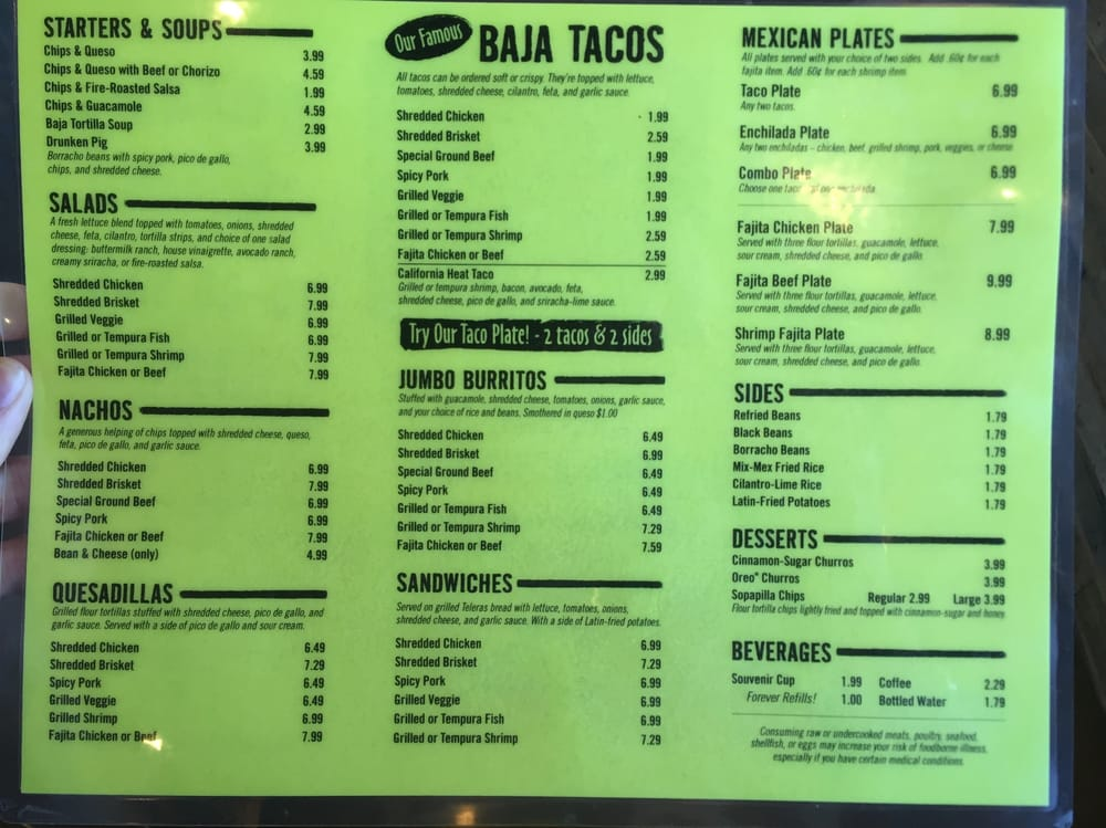 image about Fuzzy's Tacos Printable Menu referred to as Fuzzy S Tacos Menu - Added information and facts