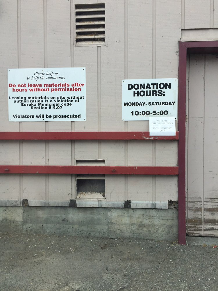 Rescue Mission Thrift Store: 1031 Broadway, Eureka, CA