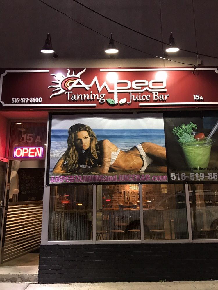 Amped Tanning and Juice Bar: 15A Jericho Tpke, New Hyde Park, NY