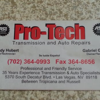 Pro Tech Transmission And Complete Auto Repair Auto