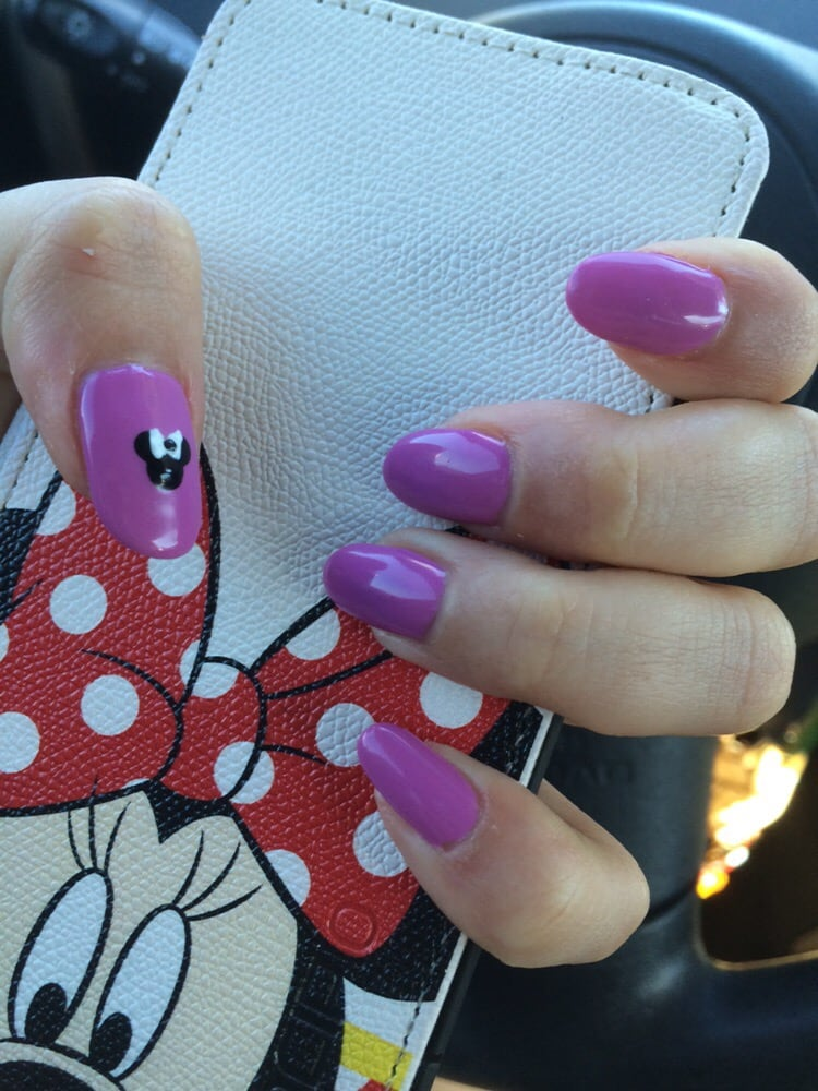 Shellac nails with minnie mouse on my thumb yelp for A perfect 10 nail salon