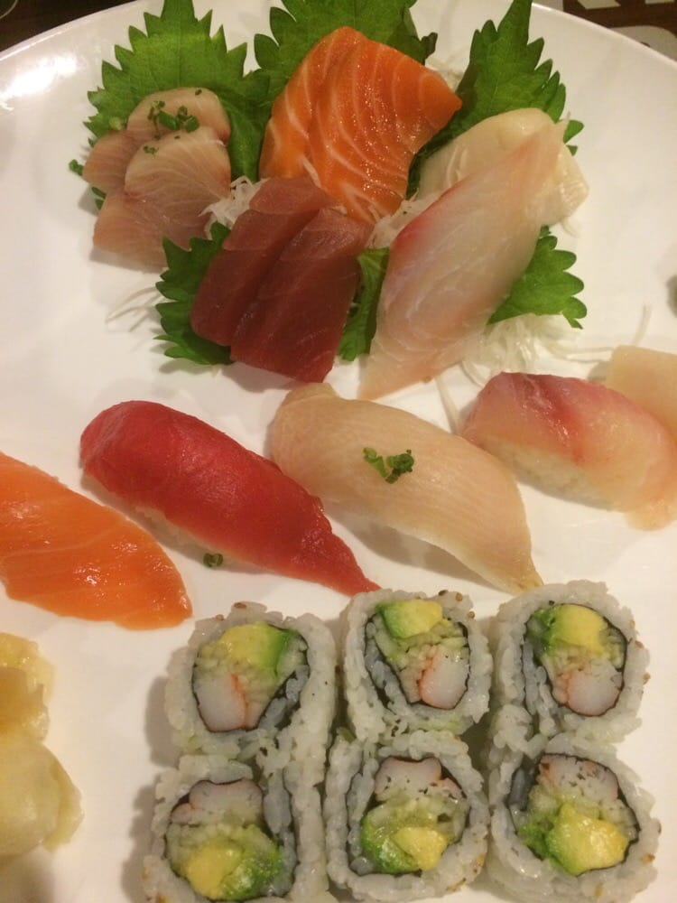 The sushi and sashimi dinner yelp for Jj fish and chicken near me