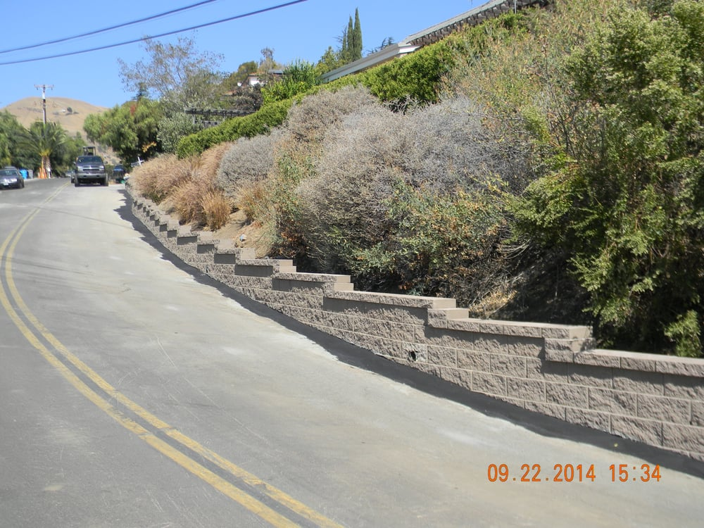 Wall Along Roadway To Support Toe Of Slope Yelp