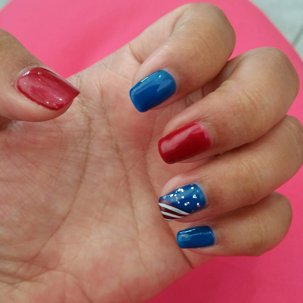 Nails for the 4th of july by alisa yelp for A new look nail salon