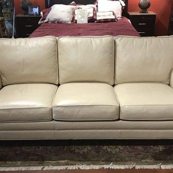 Ethan Allen Cream Leather Sofa 2499 Yelp