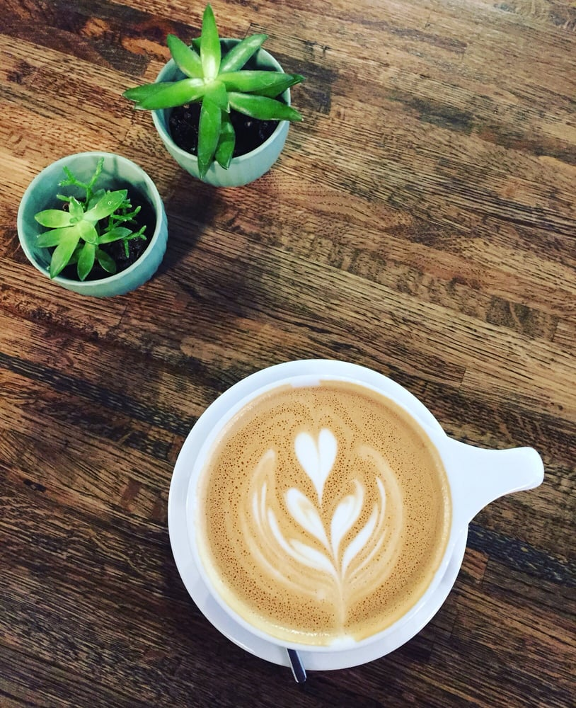 Photo of Beansmith Coffee Roasters - Omaha, NE, United States. Succulents,  reclaimed - Succulents, Reclaimed Wood Tables, And Latte Art For The Win! - Yelp
