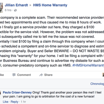 HMS Home Waranty Reviews Real Estate Services Manassas - Weichert home protection plan