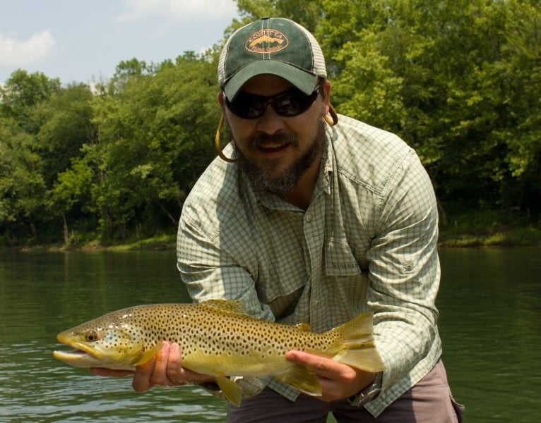 Learn to fly fish the chattahoochee river drift boat fly for Trout fishing in ga