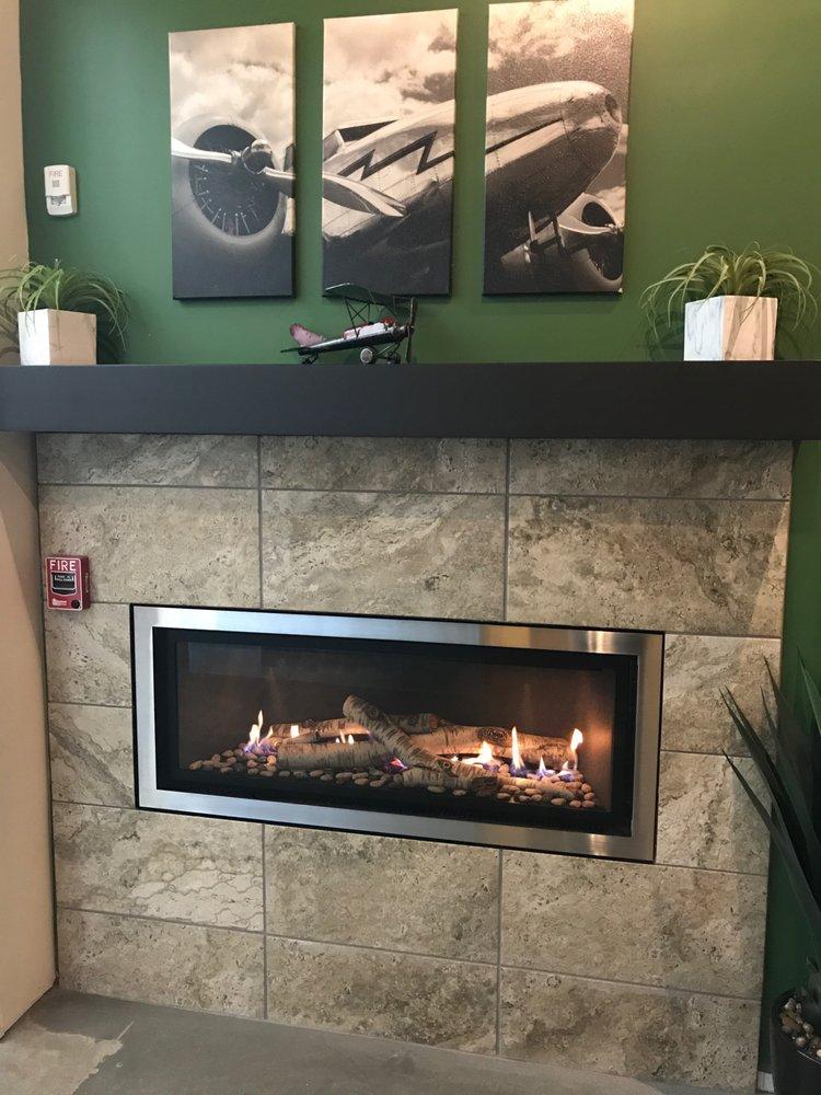Peachy Mendota Ml47 Linear Gas Fireplace With White Birch Log Set Download Free Architecture Designs Momecebritishbridgeorg