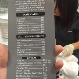 Photo Of Vernis Nail Bar Woodland Hills Ca United States Spa Menu