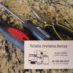 Reliable Appliance Service Appliances Amp Repair 3120