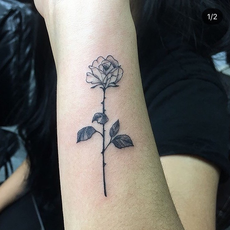 7a1d7de02 My very first tattoo, loved how the rose came out! Thanks Phong! - Yelp