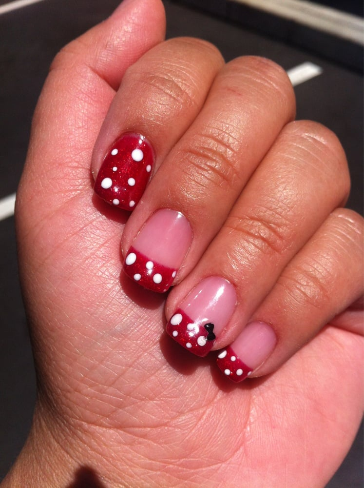 My mini mouse/Disney inspired gellish nail art by Lucy ...
