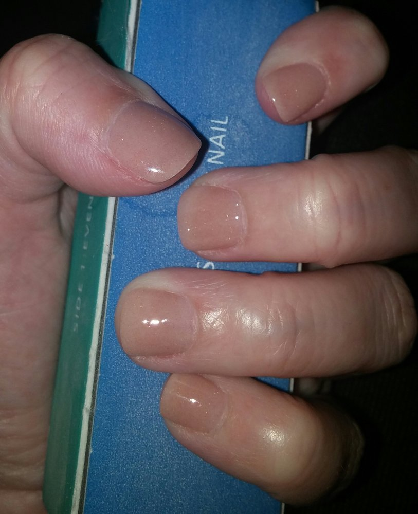 Nexgen nails color 222. Pretty nude shade with a hint of sparkle ...