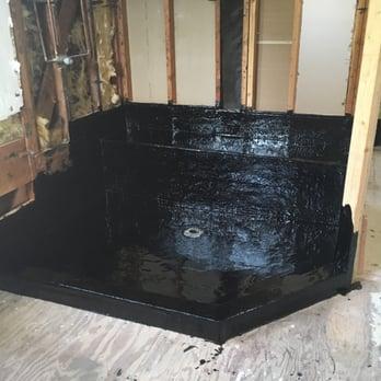 we tarred it hot mop shower pans