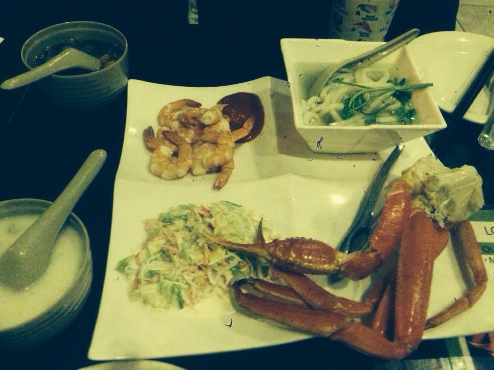 Shrimp cocktail, Veg Udon, Kani Salad & Snow Crab Cluster - Yelp