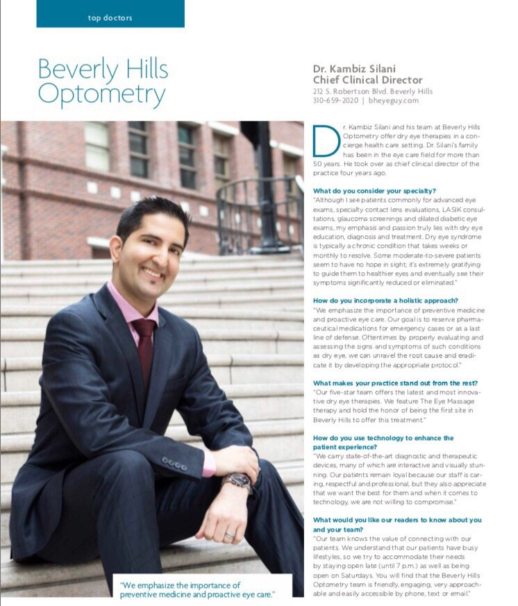 Kambiz Silani, OD- Beverly Hills Optometry
