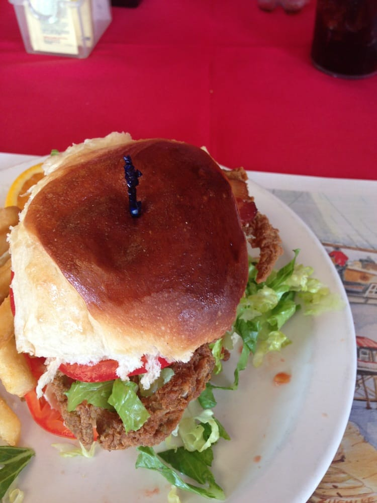 ... crab sandwich with bacon lettuce and tomato. (Crab slammer) Delicious