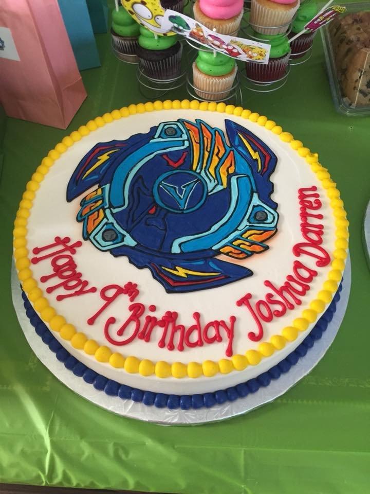 Beyblade birthday Cake for my sons birthday - Yelp