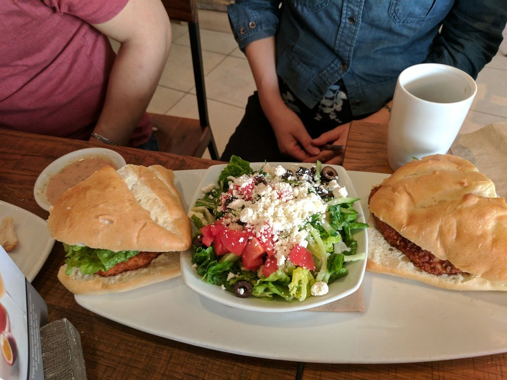 Sandwich And Salad Combo, Huge Portion. Pictured: Fried