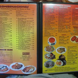 Los Cerritos Mexican Restaurant Baldwin Ga Menu