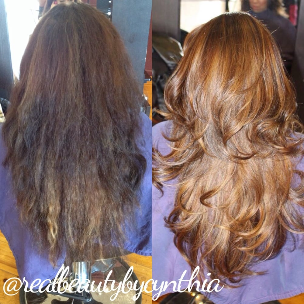 Before And After In This Color Correction I Fixed A Bad Ombr Shes