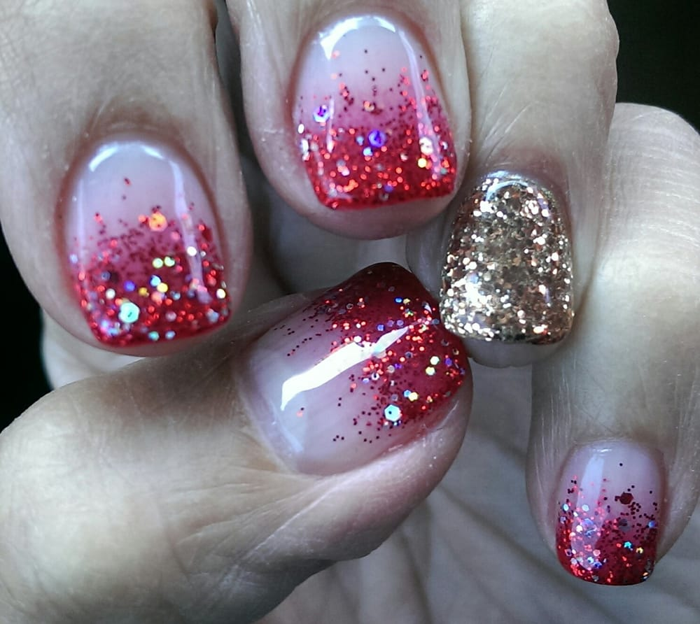 Merry Christmas gel manicure. - Yelp