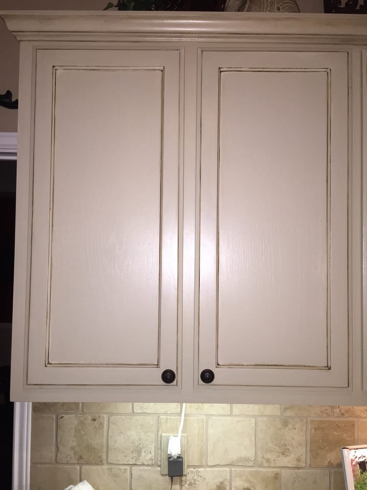 Photo of 78 Painting - Austin TX United States. Kitchen cabinets were repainted & Kitchen cabinets were repainted and faux finish applied to look worn ...
