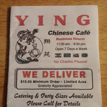 Ying Cafe Menu Garland