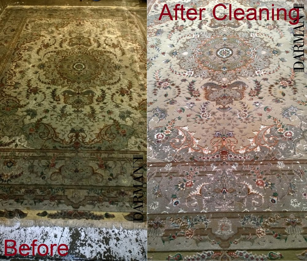Rug Cleaning And Dog Urine Stain Removal On Chin,Tabriz