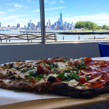 Photo Of Blue Eyes Restaurant Hoboken Nj United States Pizza With A
