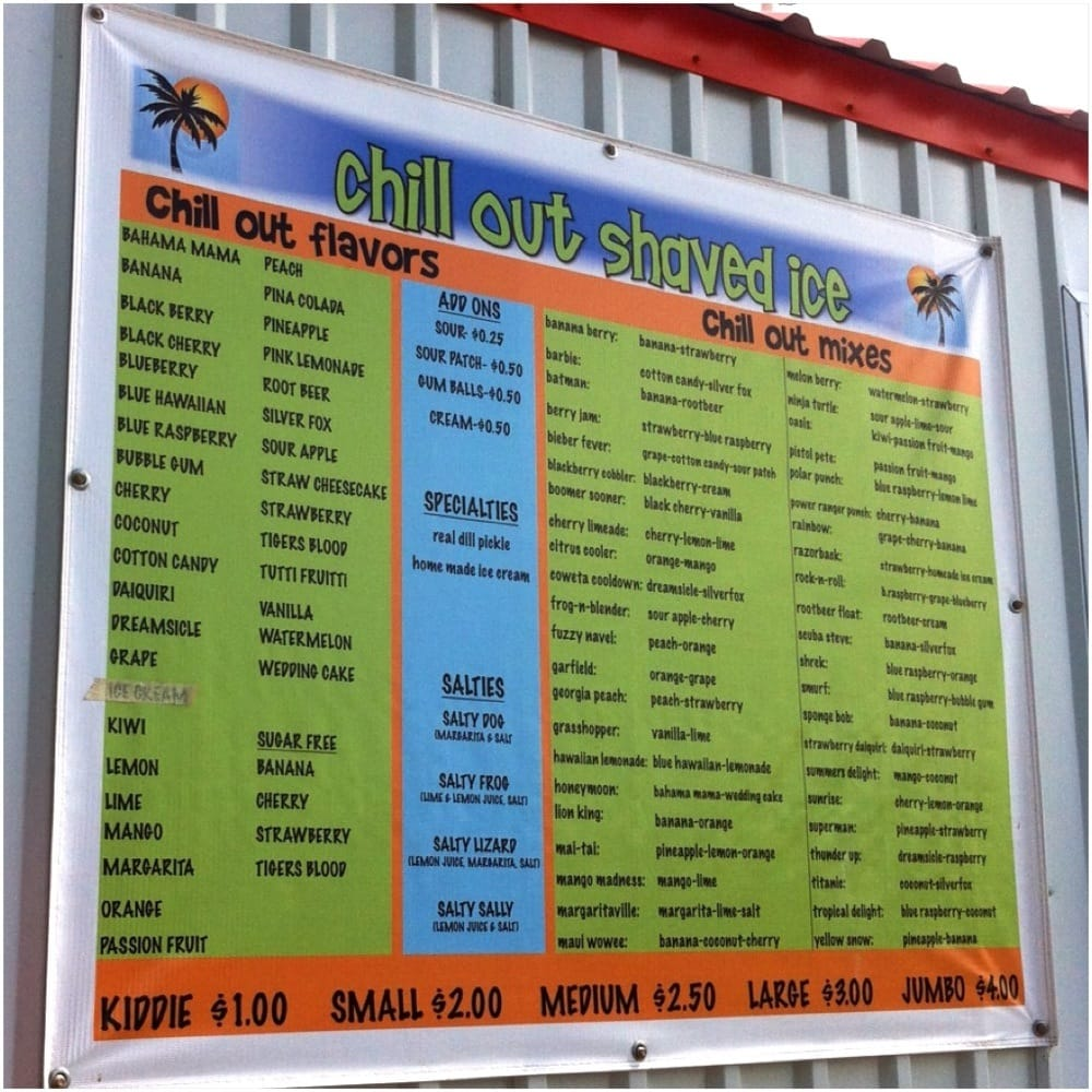 Chill Out Shaved Ice: S State Hwy 51, Coweta, OK