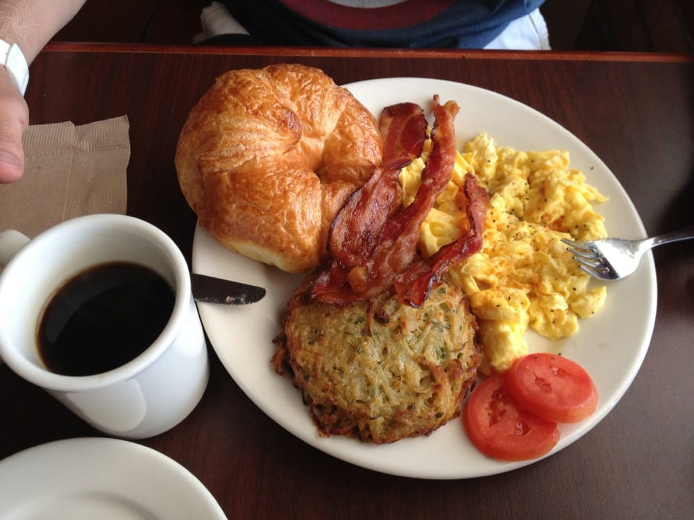 Country French Breakfast (2 eggs scrambled, potato galette ...