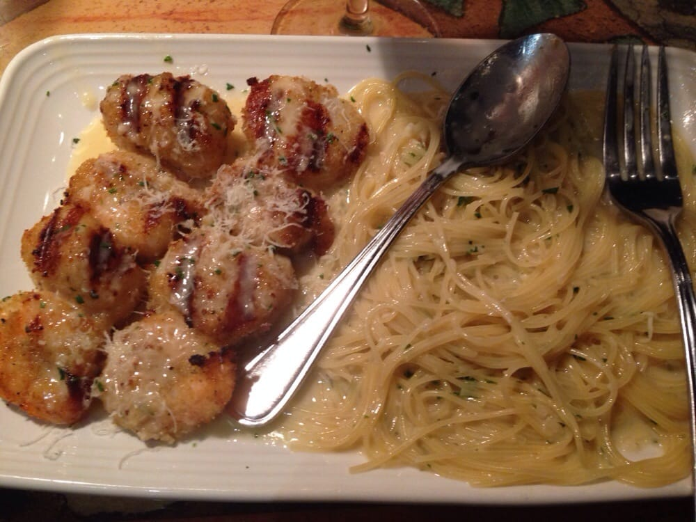 Shrimp And Scallops In Lemon Butter Sauce With Angel Hair Pasta Yelp