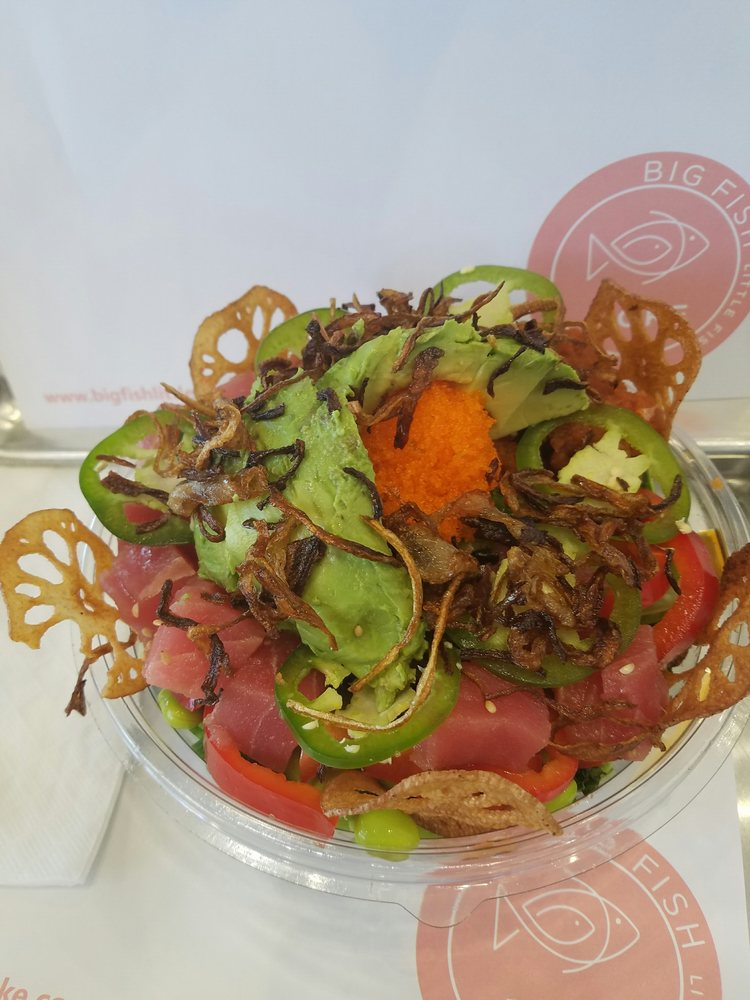 Create your own bf bowl w ahi yelp for Big fish little fish poke