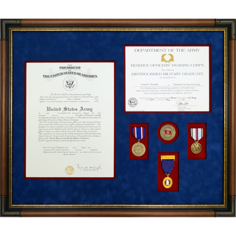 Custom Framed Distinguished Military Graduate Award Along With ...