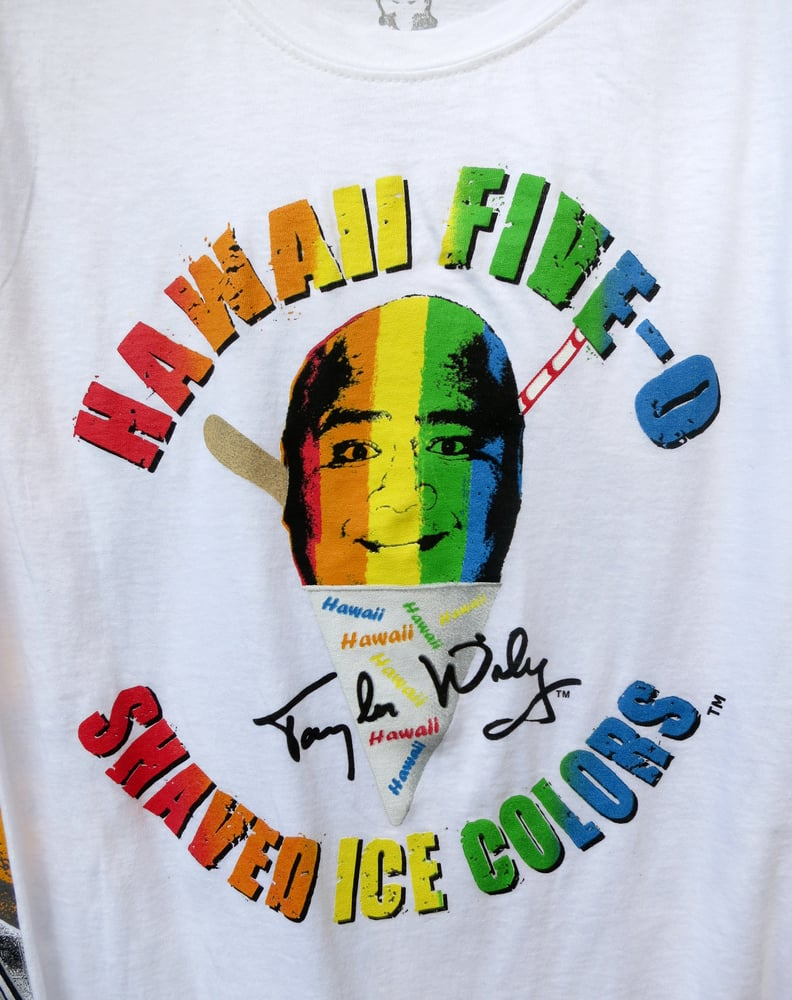 Big T 39 S T Shirt Design Hawaii Five 0 Shave Ice Colors
