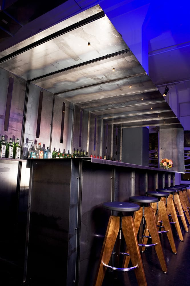 Ccc S Fully Stocked Bar With Custom Made Bar Stools Yelp