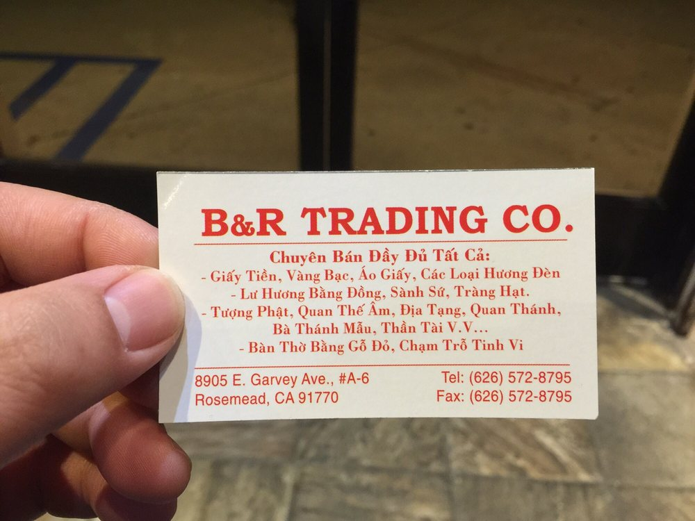 B&R Trading Buddhist Supply: 8905 Garvey Ave, Rosemead, CA