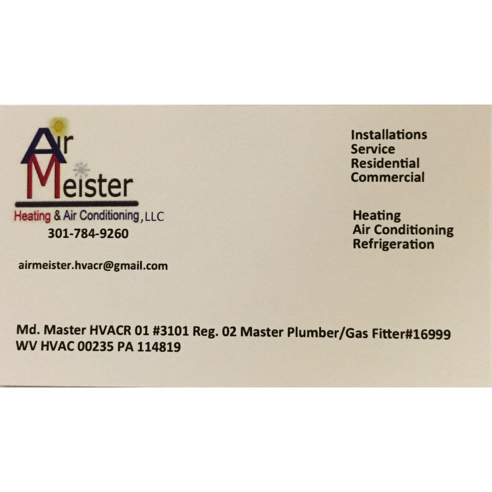 Air Meister Heating and Air Conditioning: Lavale, MD