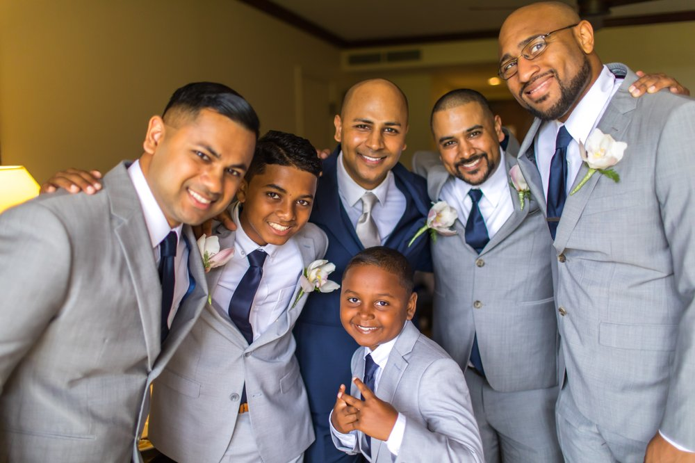 Looking sharp on wedding day (3 adult suits from Indochino